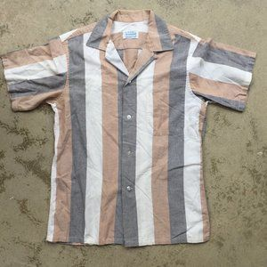 Vintage Striped Casual Shirt